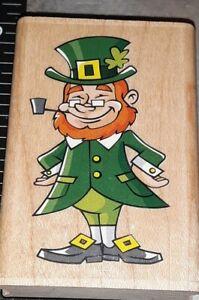 Leprechaun,inkadinkado,B85,wooden, rubber stamp