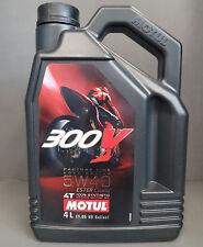 1 x Motul 300V 4T 5W40 moteur HUILE 4 litre route course +#####