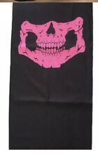 Pink Bicycle Ski Skull Face Mask Ghost Scarf Neck Warmer Snood Bike Skeleton