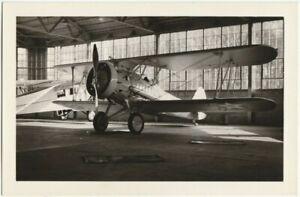 USA Military Biplane - RPPC