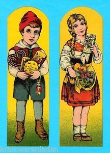 uralte Oblatenbilder Hänsel und Gretel 21 cm - DIE CUT SCRAPS