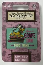 2020 DCA Food & Wine Festival Pluto LE 2000 Limited Edition Disney Pin