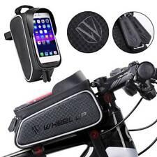 ROCKBROS Bike Cycling Top Front Tube Frame Bag TouchScreen Phone Case Face @vt~