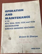 Brown & Sharpe Micromaster Operation & Maintenance Manual