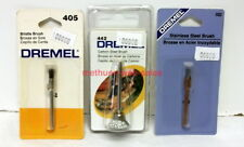 "Dremel Rotary Tool~#405,442,532~Brushes (1/8"" shank)~NOS~Bristle,Carbon&SS Steel"