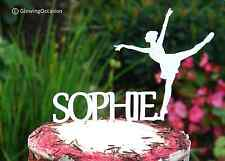 Personalised Name Birthday Cake Topper With Ballerina