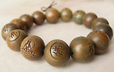 NEW Tibetan Sandalwood Carved Buddha Prayer Beads Bracelet