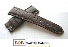 BOB MARINO ECHTLEDERBAND kompatibel mit Paneraifaltschließe Allig-Mokka 24/22 mm