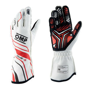 NEW 2020!! OMP One-S FIA 8856-2018 Racing Rally Gloves White
