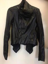 RICK OWENS Black Leather Naska Biker Jacket Italian size 42