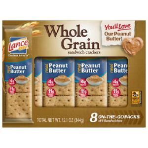 Lance Whole Grain Peanut Butter Sandwich Crackers