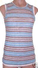 New NWT Christopher & Banks S, small striped semi sheer layered tank top shirt
