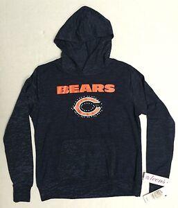 NFL Chicago Bears Teen Girls Football rhinestone Light Sweatshirt Front Pocket