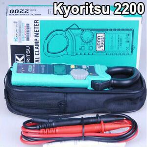AU ship Kyoritsu 2200 Handheld AC Digital Clamp Meter AC/DC/Ω 1000A