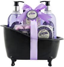 BRUBAKER Beauty Geschenkset Lavendel Vanille Badeset Körperpflege Set mit Wanne