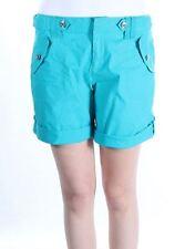 INC International Concepts Women's  Roll Tab Shorts Teal 8