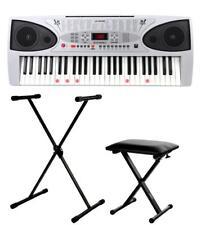 Klasse 54 Tasten Keyboard mit Leuchttasten, Lernfunktion, Mikro, Stativ und Sitz