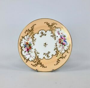 A c.1843 Minton Hand Painted And Gilded Dessert Plate. Pattern 5658. Plate #2