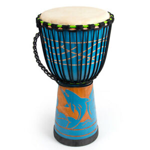 AKLOT Djembe Africa Drum Solid Mahogany 10 Inch for Beginner