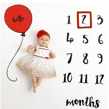 Milestone Number Balloon Pattern Mat Newborn Baby Photography BACKDROP