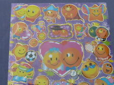 HIGH QUALITY 25 SMILIES / IMOGIES LASER STICKERS SHEET 20 X 25CM