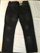 Boys Ring Of Fire Straight Fit Black Jeans Size 10 NEW