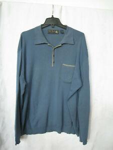 Nat Nast Luxury Originals Blue Collared Pullover-/Breast pocket-Sweater-XL