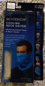 NEW MISSION COOLING NECK GAITER-SAND-Makes A Great Face Mask!