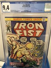 Iron Fist 4 cgc 9.4 white pages