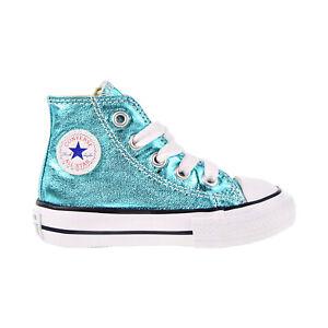 Converse Taylor All Star High Metallic Toddler Shoes Fresh Cyan-White 755555F