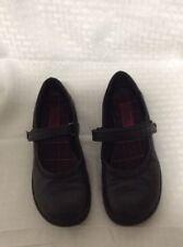 Rachel Black Microfiber Buckle Platform Mary Janes Dress Shoes kid Size 2.5,