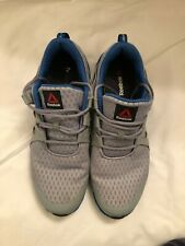 Reebok ZigTech Big N Fast Athletic Running Shoes Men Size 11 Gray/Blue/Wht