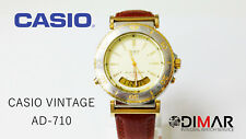 VINTAGE CASIO AD-710 OCEANUS QW.388 JAPAN DUAL TIME YEAR 1989 WR.200, ø BOX 39mm