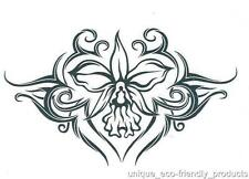 TRIBAL FLOWER ORCHID SEXY Temporary Tattoo 9328