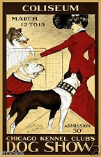 Chicago Kennel Clubs Dog Show Boxer Bull Dog Collie Fine Art Print / Poster
