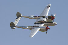 1/12 Scale American WW-II Lockheed P-38 Lightning Plans, Templates, Instructions