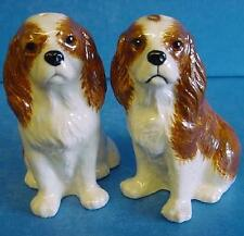QUAIL BLENHEIM RED & WHITE CAVALIER KING CHARLES SPANIEL DOG SALT & PEPPER SET