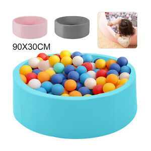 90x30cm Balls Foam Pit for Baby Toddler Pool+Pad Round Soft Ball Pool UK