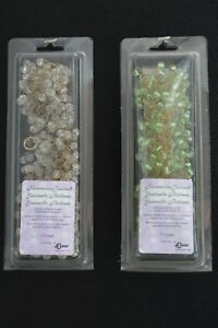 "Shimmering Glass Beaded Garland - ~6' L x ~1.5"" w - Clear, Green, or Amber!"