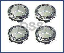 Genuine Mercedes w203 C250 C300 Center Hub Cap Wheel Blue Set (4) 17140001255337