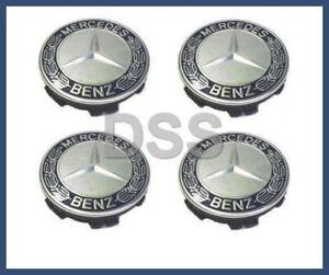 Genuine Mercedes-Benz Wheel Center Hub Cap Blue Set (x4) OE 17140001255337