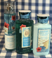 SET Bath & Body Works HAVANA TROPICAL VANILLA & CHERIMOYA Shower Gel Lotion Mist