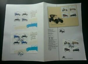 [SJ] Portugal Museum Ancient Automobile 1992 Car Transport (stamp on info sheet)