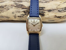 VINTAGE 1972 OMEGA 9ct SOLID GOLD SILVER DIAL MANUAL WIND LADIES WATCH