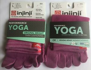 Injinji Performance Original WEIGHT 2-Pack Micro Full Toe Socks Large Purple (L)