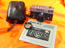ROLLEI 35 S CHROME SONNAR 1:2.8 F40mm HFT No.2370198 MADE IN SINGAPORE