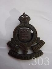 SEGUNDA GUERRA MUNDIAL king's CORONA DE OFICIALES Royal Army Ordnance Corps TAPA