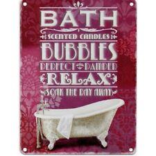 BATH BUBBLES RELAX METAL SIGN NOSTALGIC VINTAGE RETRO ENAMEL WALL PLAQUE Gift
