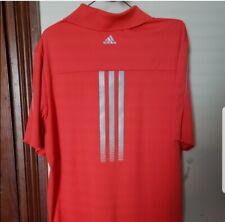 Vintage Mens Adidas Golf Shirt Orange Short Sleeve Sports Top Large Clothes