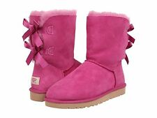 Ugg Women boots Bailey bow VICTORIAN Pink Size 6 37 Shoe Australia Shearling NIB